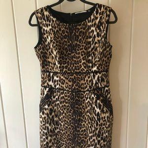 T Tahari Leopard print dress